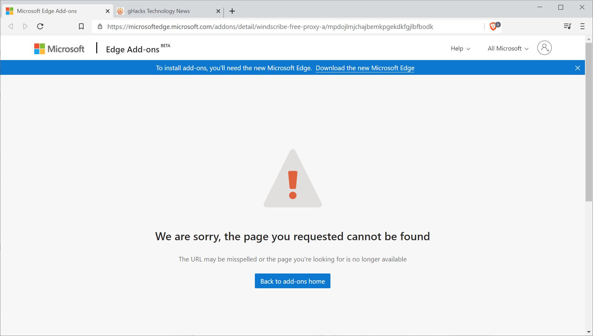 微软边缘扩展假