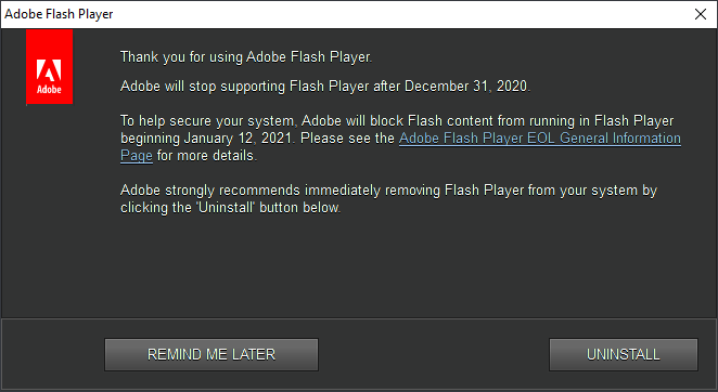 感谢您使用Adobe Flash Player