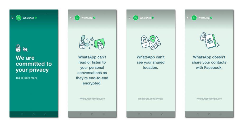 推迟执行新隐私条款后,WhatsApp发布页面挽回用户