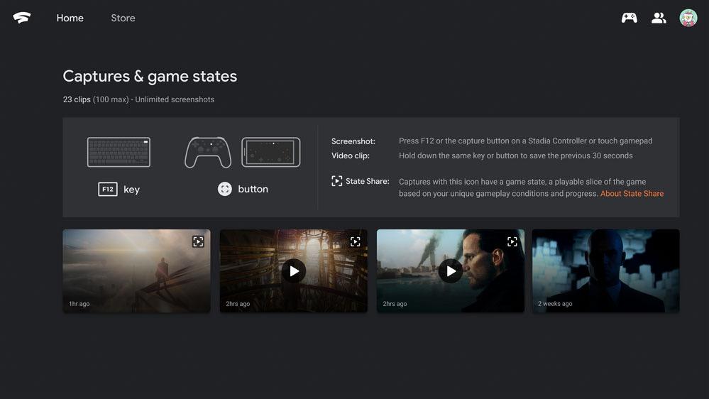 体验好友的游戏:谷歌云游戏Google Stadia推新功能State Share