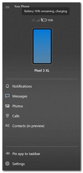 Your Phone应用新功能:查看手机信号强度和电量