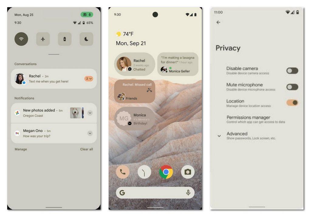 Android 12「莫奈」主题曝光:系统配色跟随壁纸变化