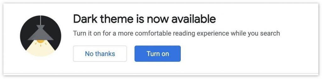 谷歌搜索PC版再次测试暗黑模式