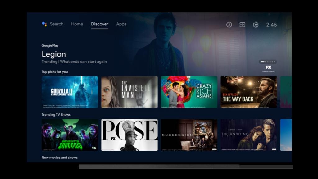 谷歌为Android TV发布更新:界面改版