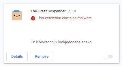 被广泛曝光后,知名扩展The Great Suspender已被谷歌下架