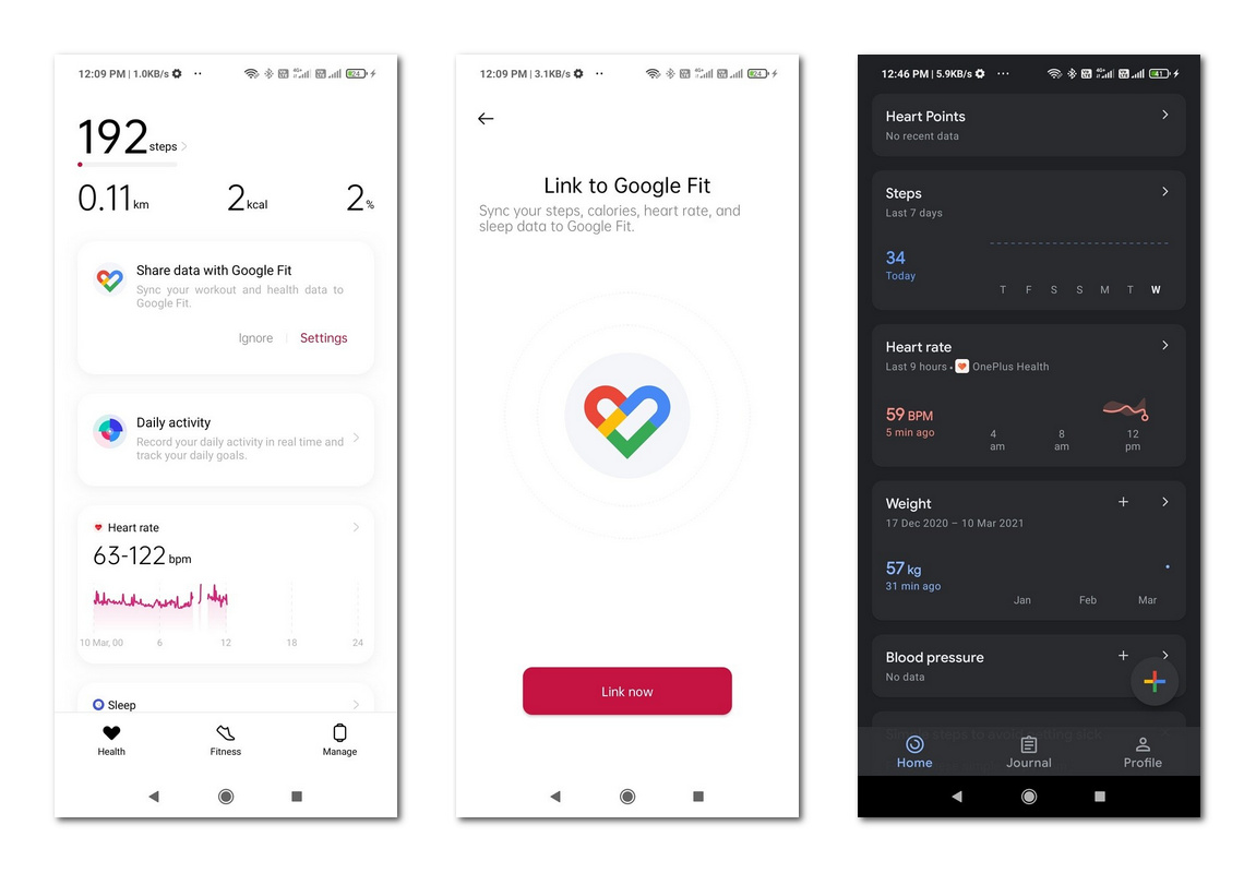 一加智能手环新功能:支持同步数据到Google Fit