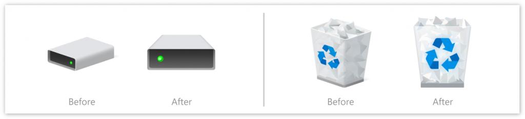 Win 10 Build 21343发布: 桌面、文档、回收站等图标换新颜