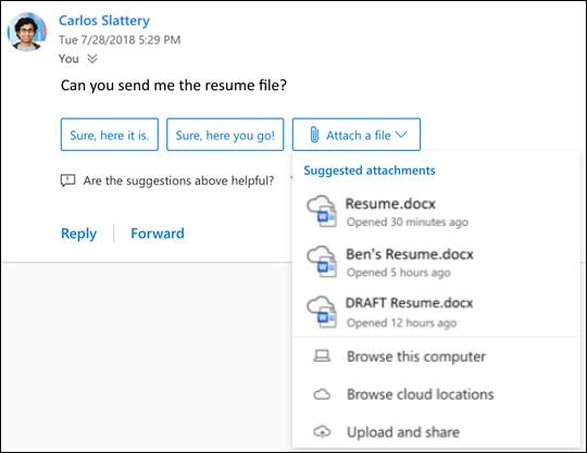 "Outlook桌面版将支持""建议回复""功能"