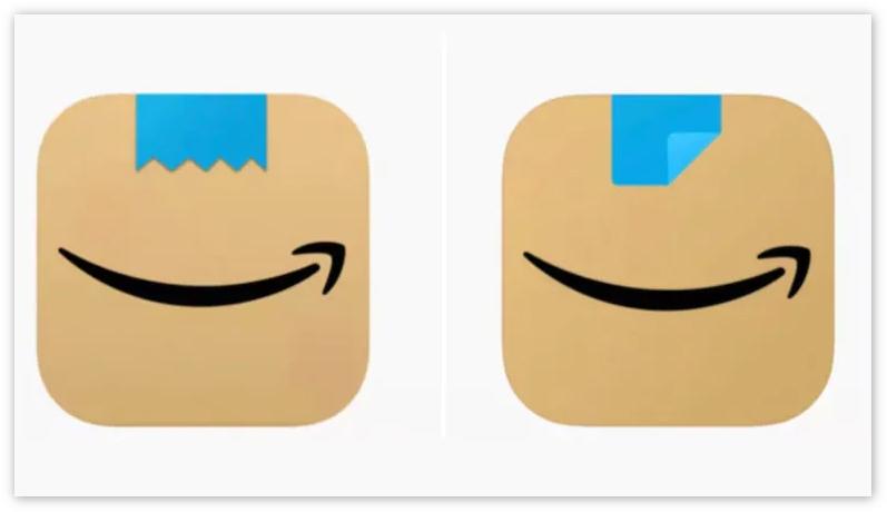 """[图] 被指太像""""希特勒的胡须"""",亚马逊被迫修改应用图标"""