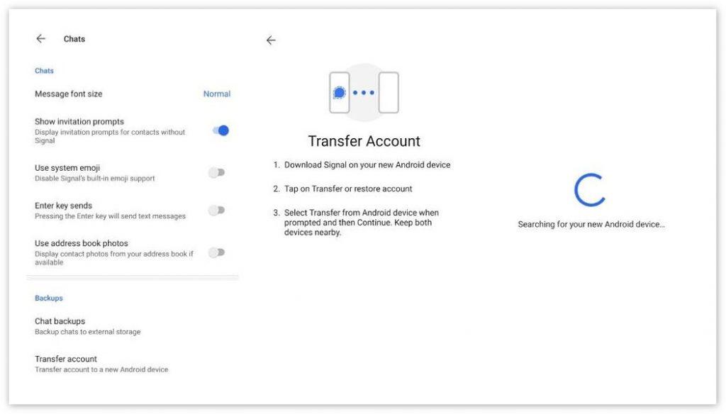 加密聊天应用Signal新增聊天记录迁移功能