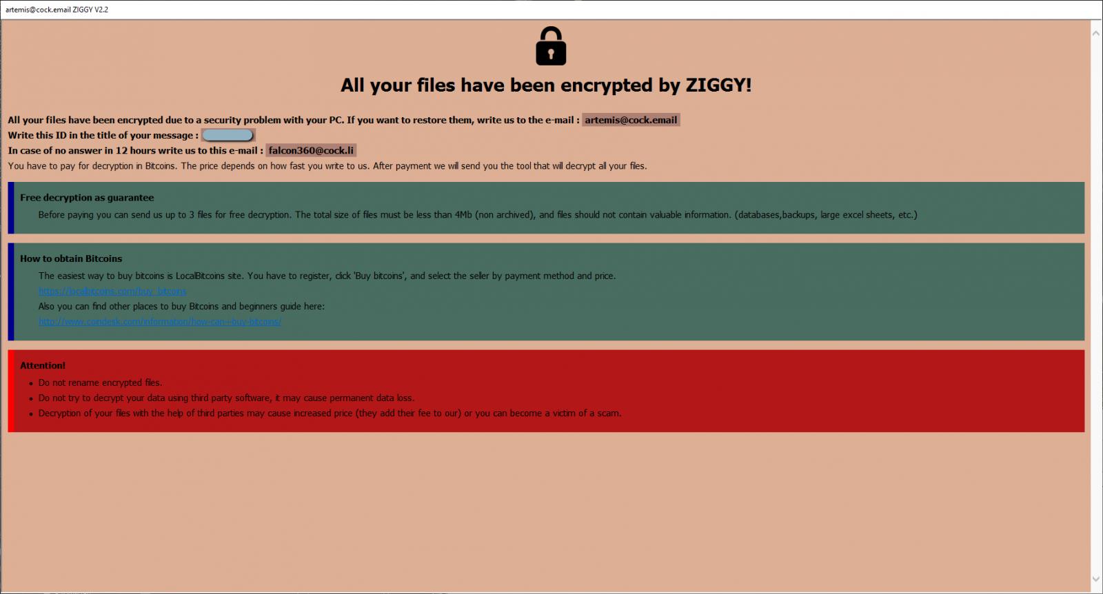 勒索软件Ziggy宣布金盆洗手:将为受害者退还赎金