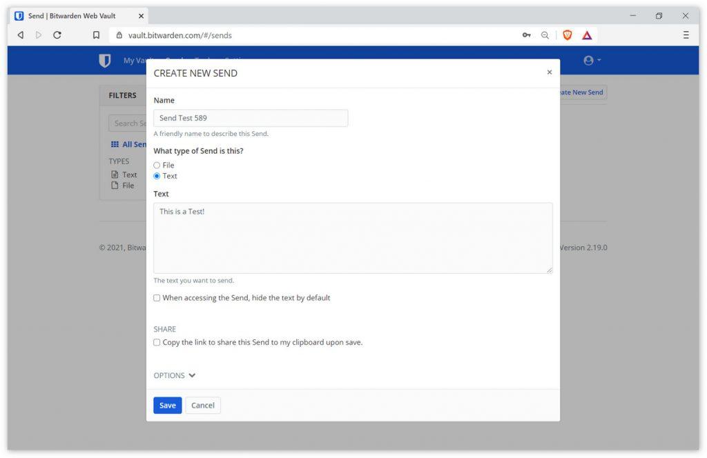 密码管理应用Bitwarden推出文件分享服务Bitwarden Send