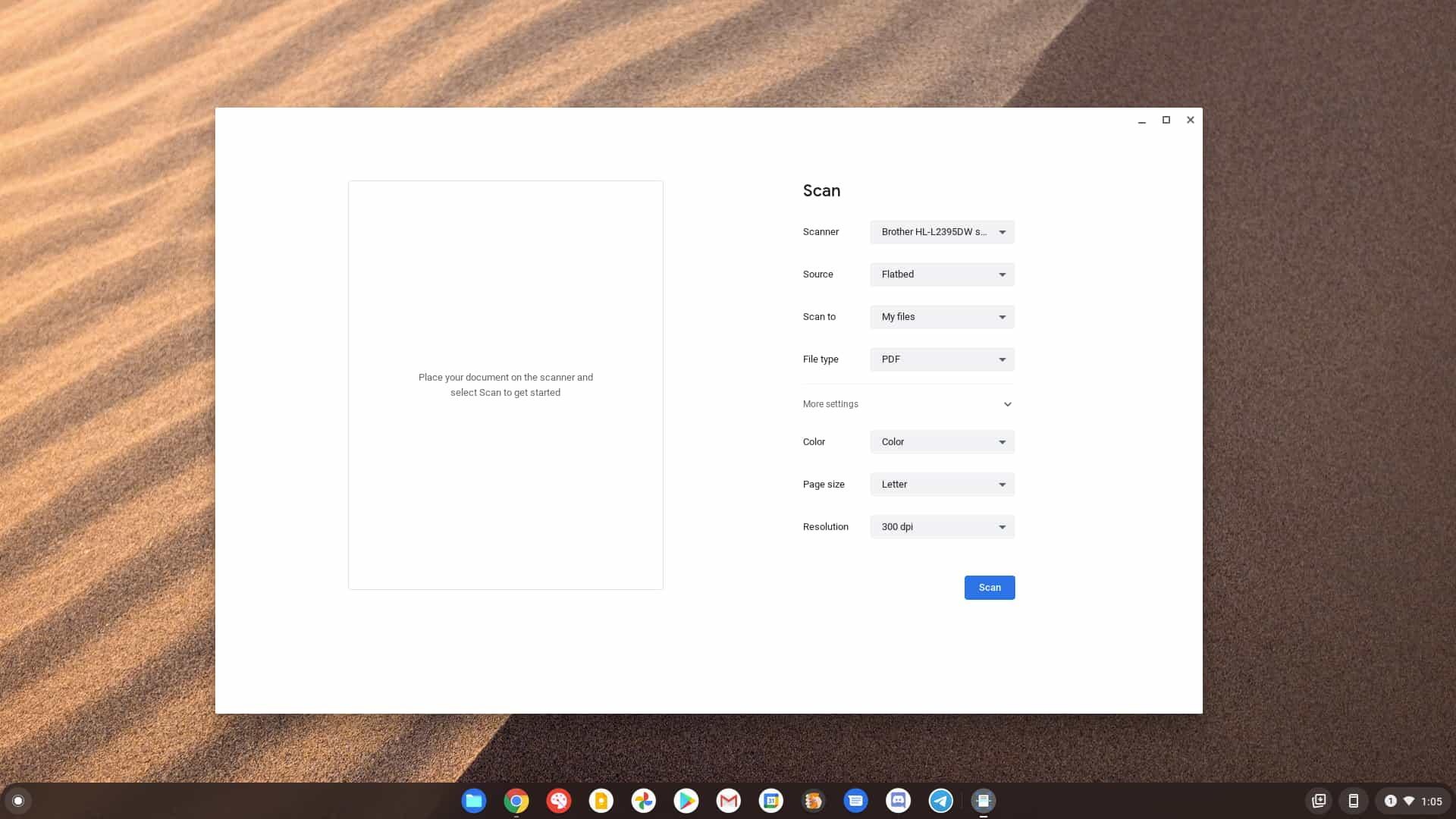 Chrome OS 89新增原生文档扫描应用