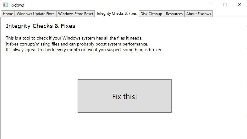 Fixdows-完整性检查SFC和DISM