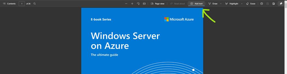Microsoft Edge将文本添加到PDF功能
