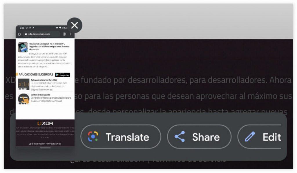 Google Lens支持在Android 11上翻译截屏文本