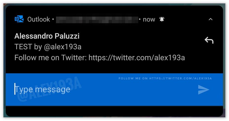 Outlook移动端将支持在通知栏直接回复邮件