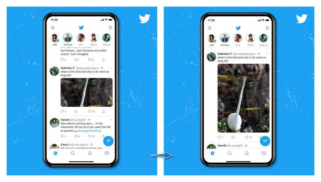 推特改进图片预览功能,不再裁剪图片