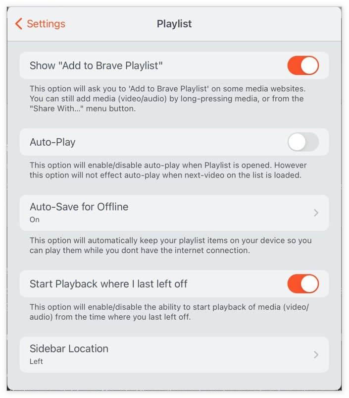 """Brave浏览器iOS版推出""""播放列表"""":支持离线保存视频"""