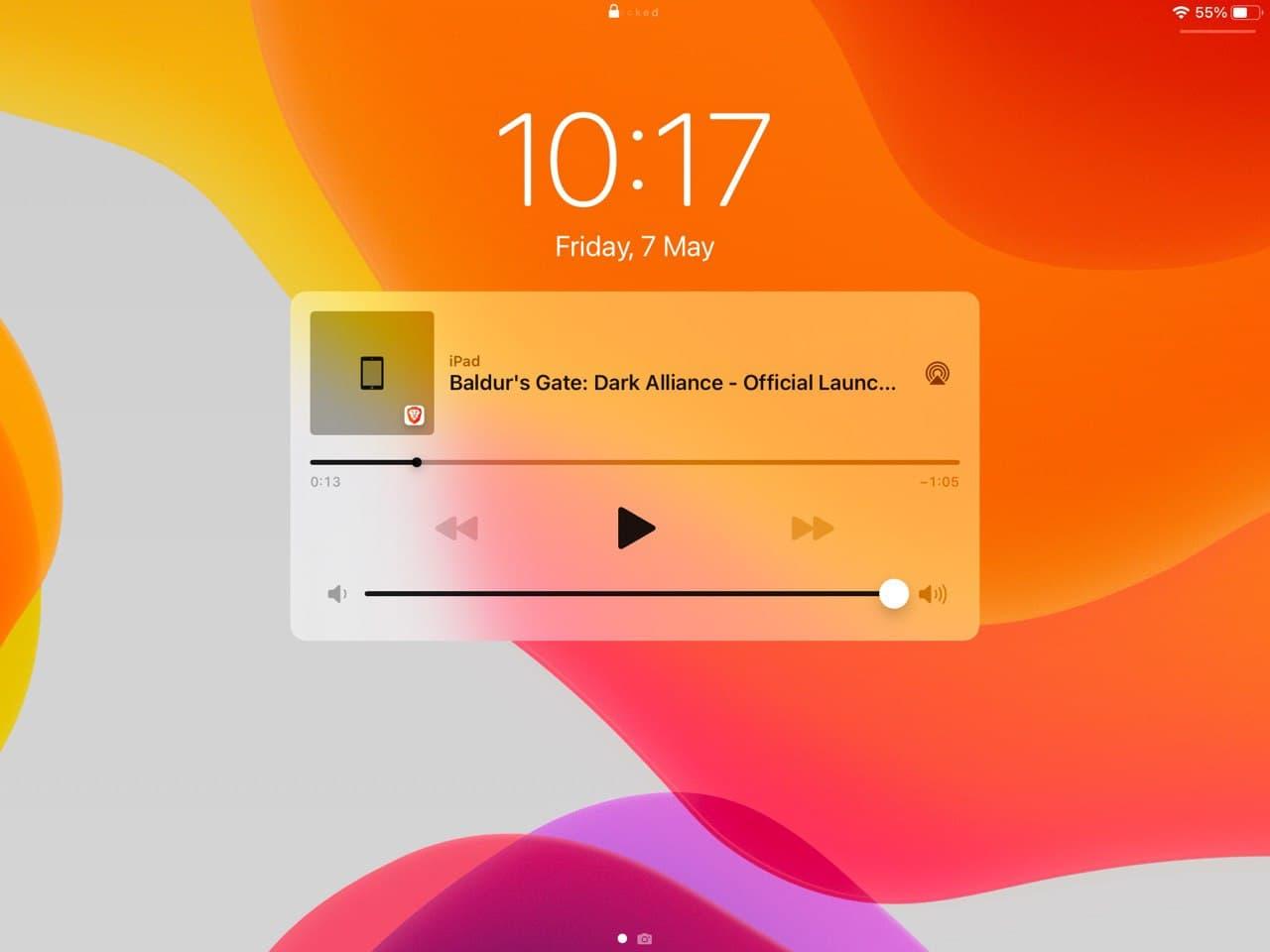 勇敢的播放列表iOS-从锁定屏幕控制播放