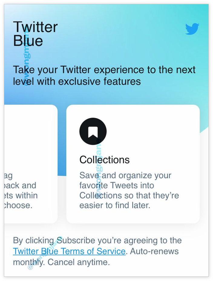 """推特付费订阅服务""""Twitter Blue""""价格曝光:每月2.99美元"""