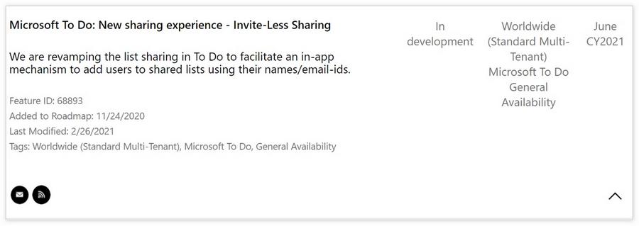 Microsoft To Do将可通过邮件地址和姓名分享列表