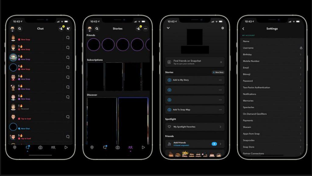 数月漫长测试后,iOS版Snapchat暗黑模式来了
