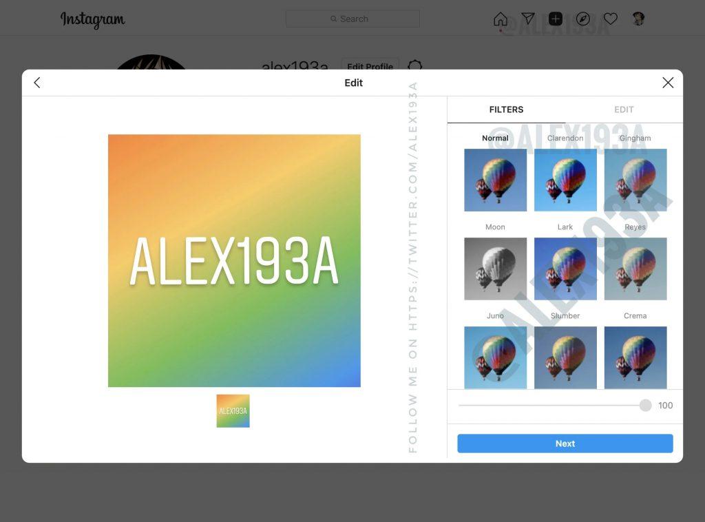 Windows版Instagram即将支持图片上传