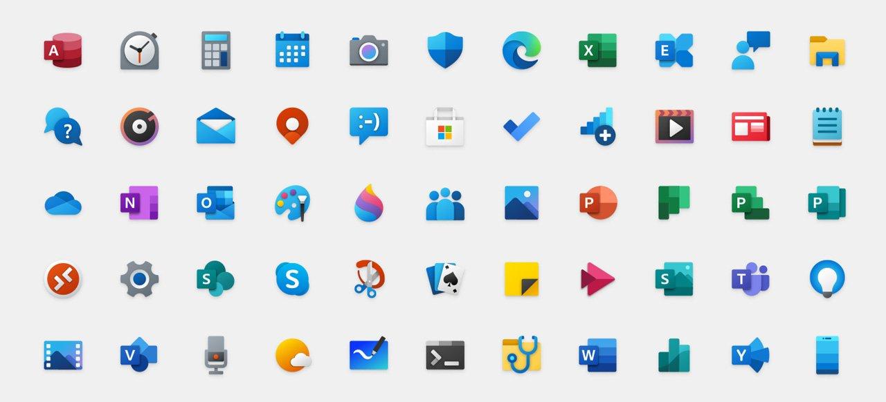 即将推出的Windows 10 Fluent图标