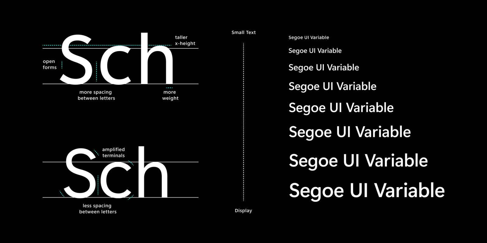 更新了Segoe UI字体家族