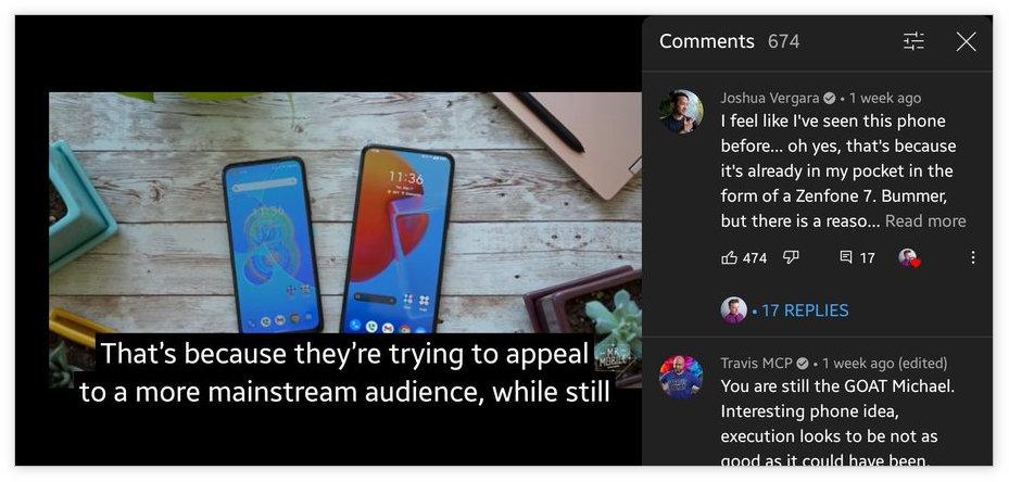 油管将支持视频全屏时看评论:有用户已经用上了