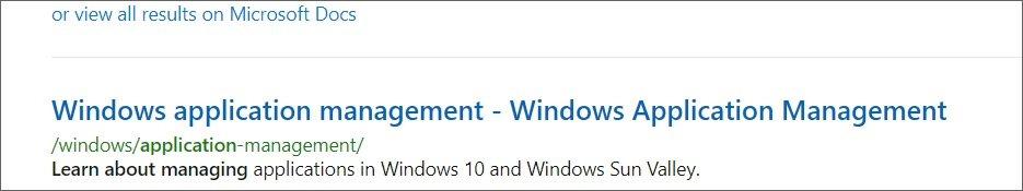 参考 Microsoft 文档站点中的 Windows 10 Sun Valley