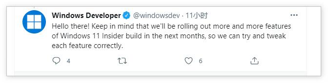 微软暗示未来几个月Windows 11会推出更多功能
