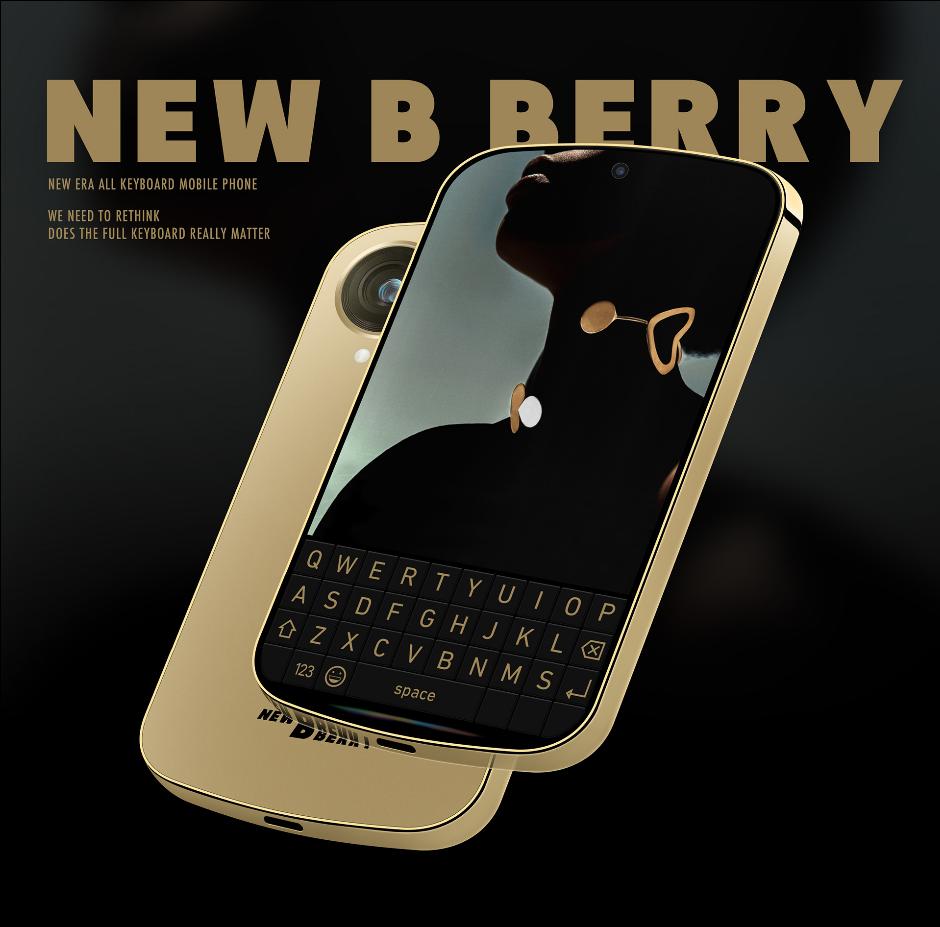 [组图] 黑莓首款5G智能手机概念图曝光:键盘可做屏幕用