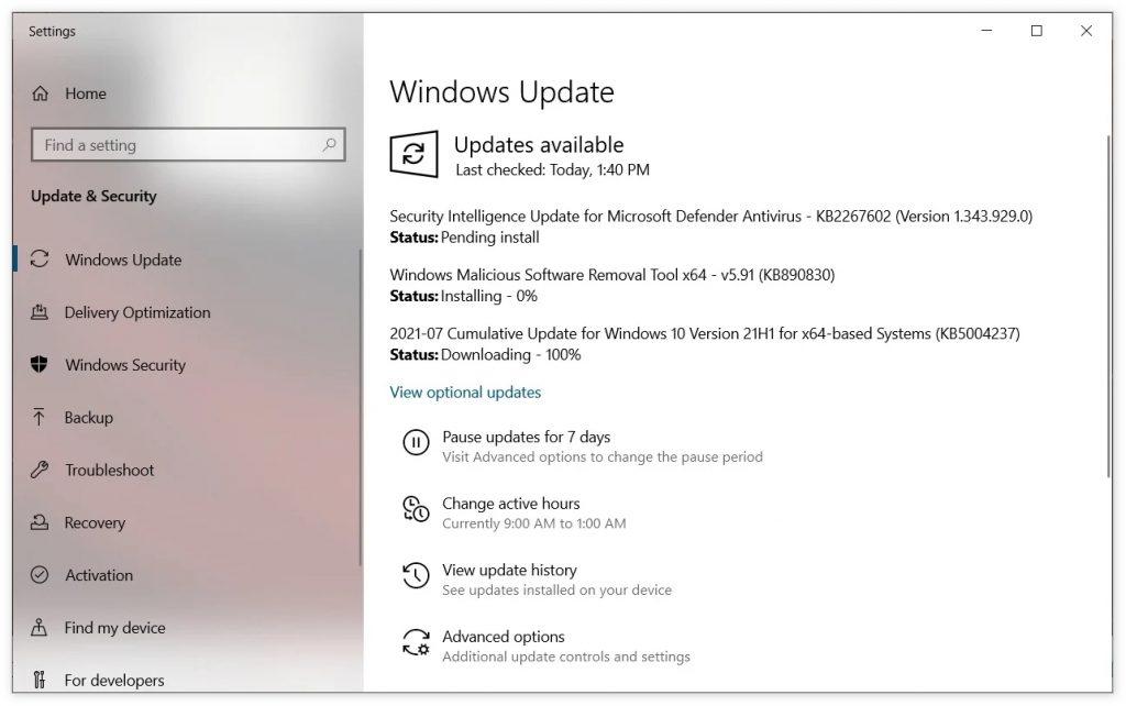 月周二补丁日,微软发布KB5004237和