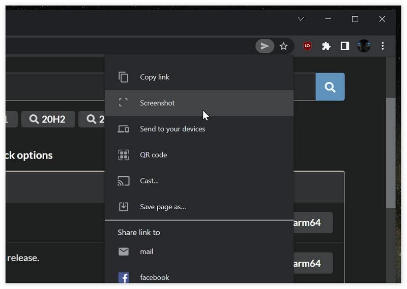 Chrome浏览器将迎来内置截屏工具:支持截图编辑功能