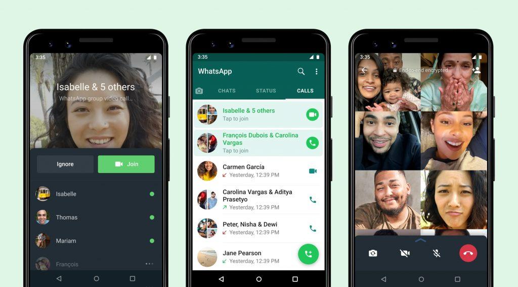 WhatsApp推出新功能:中途加入进行中的群组通话