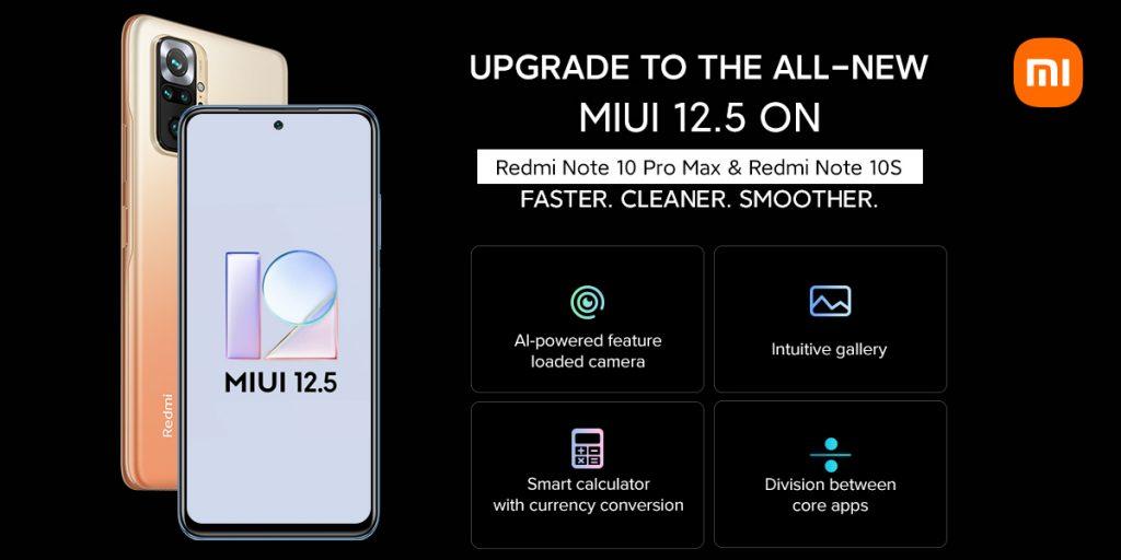 [海外]小米为Redmi Note 10 Pro Max 和 Note 10S发布MIUI 12.5 Beta版