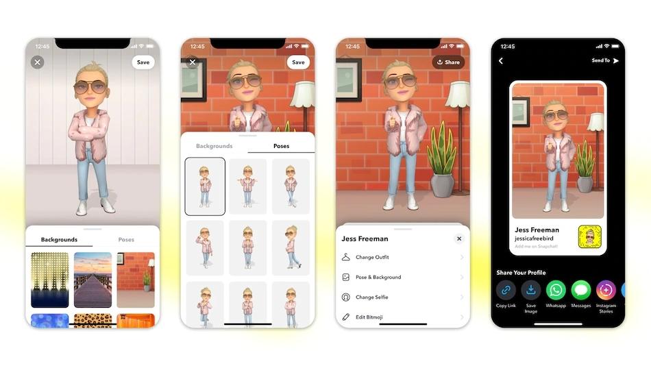 Snapchat 宣布推出 3D版Bitmoji头像功能