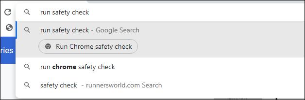安全检查 Chrome 操作