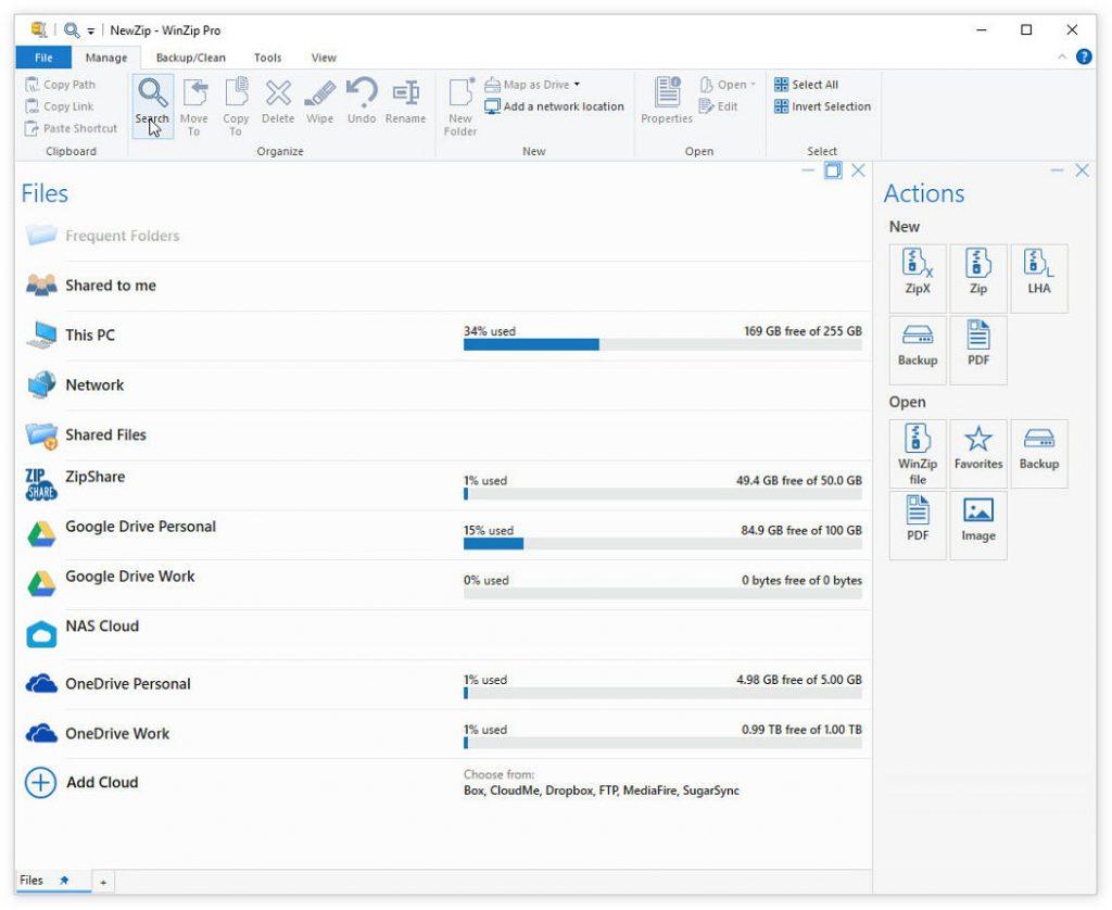 老牌解压缩工具WinZip 26发布:支持连接Google Drive/OneDrive等云服务