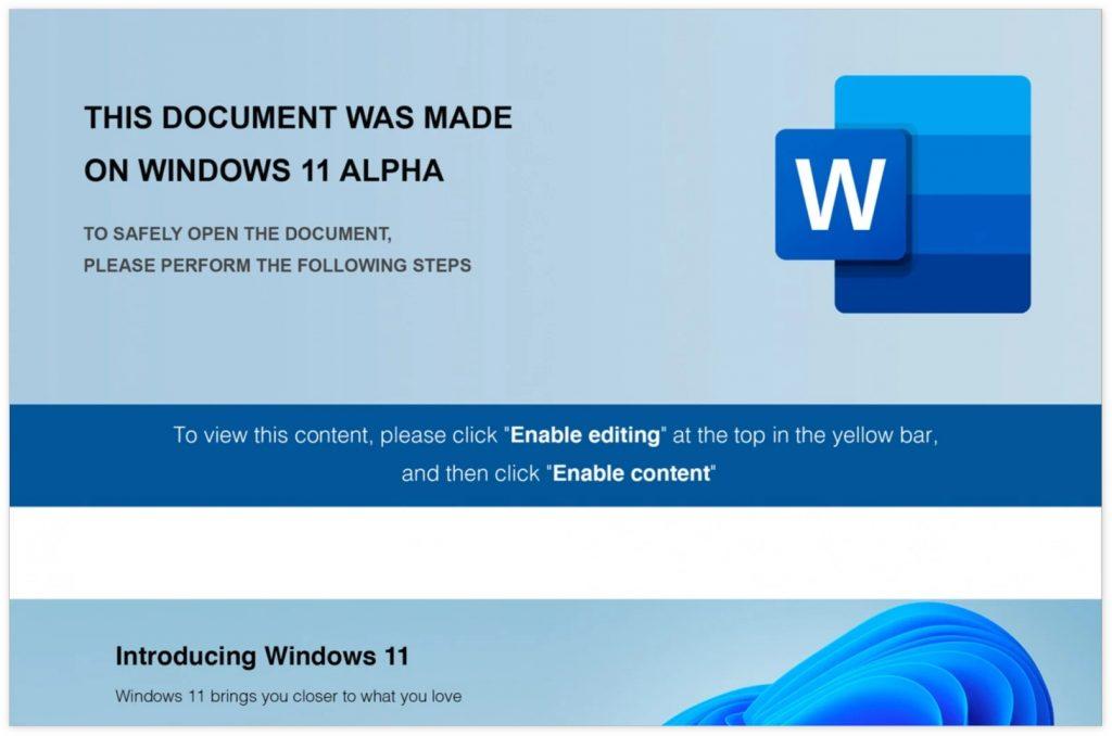 """[安全提醒] 谨防""""Windows 11 Alpha""""电子邮件骗局"""