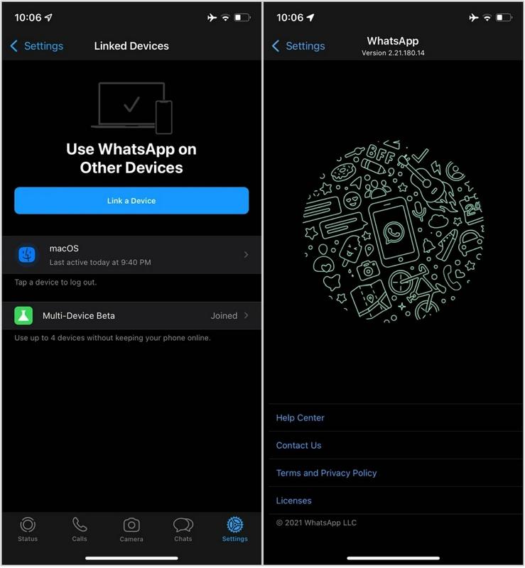 WhatsApp iOS稳定版推出多设备支持:可连接4台设备