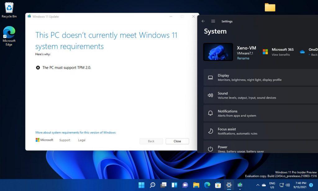 前后不一?Win11 Build 22458要求虚拟机支持TPM 2.0