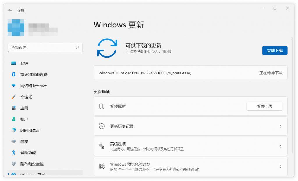 [更新日志] 微软发布 Win11 Dev 10.0.22463.1000