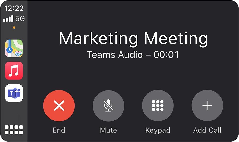 微软Teams iOS版正式支持Apple CarPlay