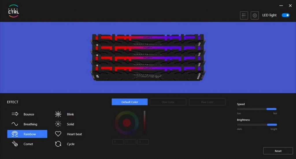 金士顿上架FURY CTRL应用:个性化设置FURY RGB灯效