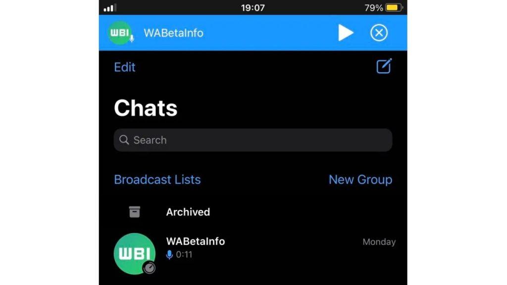 WhatsApp正开发全局语音消息播放功能