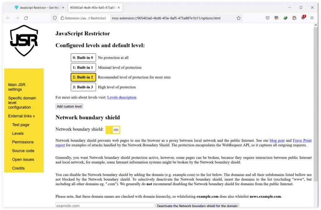 [扩展] JavaScript Restrictor:限制站点访问浏览器 API,以保护隐私