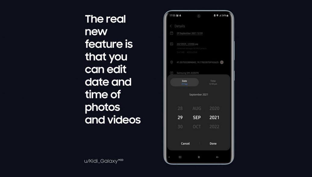 三星相册App最新支持修改照片时间:仅限于应用内,不影响EXIF